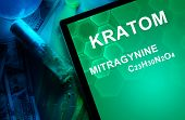 pic of meth  - Tablet with the chemical formula of Kratom  - JPG