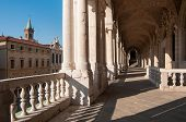 pic of vicenza  - Perspective of the columns of the Basilica palladiana in Vicenza and St - JPG