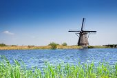pic of water-mill  - Water pumping mill in Holland - JPG