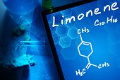 pic of formulas  - Tablet with the chemical formula of Limonene - JPG