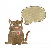 image of sticking out tongue  - cartoon dog sticking out tongue with speech bubble - JPG