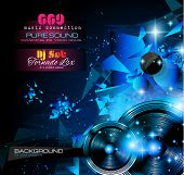 picture of clubbing  - Disco Night Club Flyer layout with  music themed elements to use for Event Poster - JPG