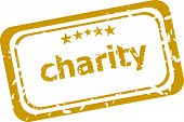 pic of word charity  - business Grunge rubber stamp with word Charity - JPG