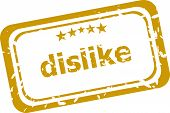 foto of dislike  - business dislike stamp isolated on white background - JPG