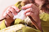 picture of knitting  - Close - JPG