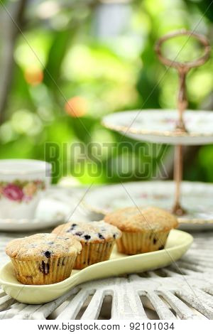 Muffin With China High Tea Set
