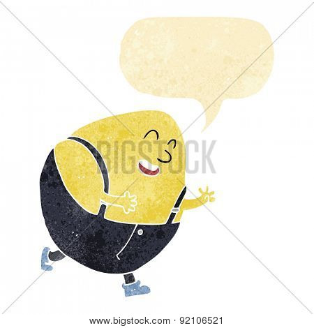 cartoon egg man