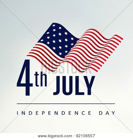 4Th July Independence Day, Vector Background, Usa Flag