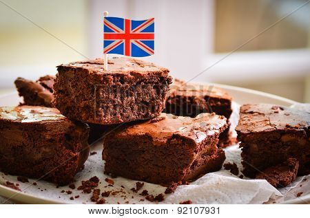 British chocolate brownies