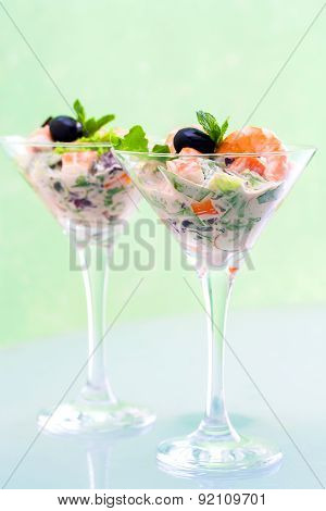 Crab And Shrimp Cocktail.