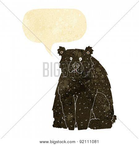 cartoon big black bear