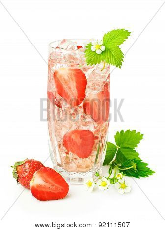 Strawberry Cocktail With Fresh Berries