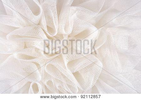 White Crumpled Tull?