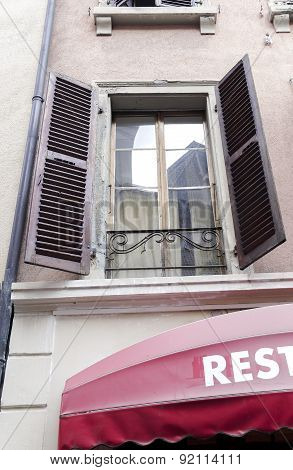 Open Window With Shutters