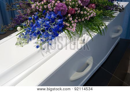 Coffin In Mortuary