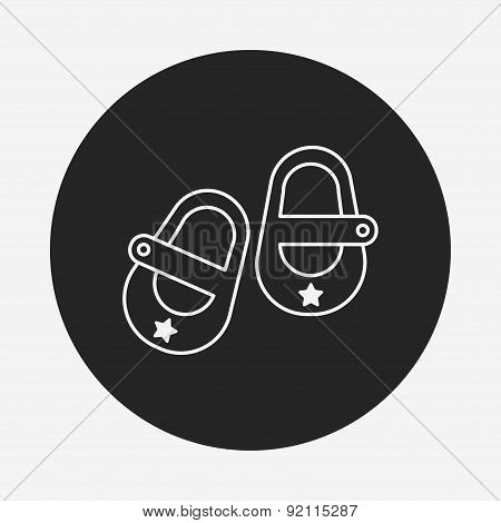 Baby Shoes Line Icon