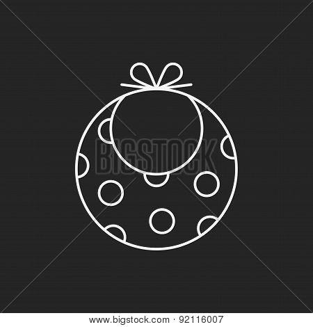 Baby Bib Line Icon