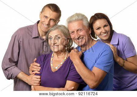 portrait with senior parents