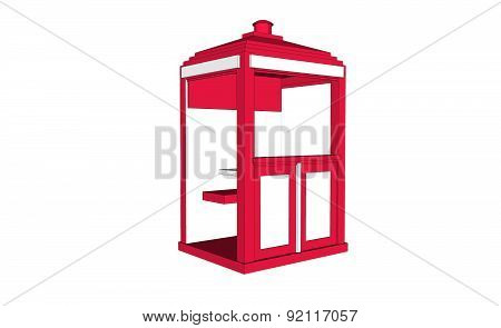 Red Vintage Guardhouse