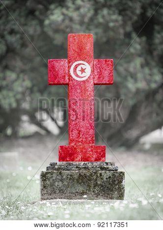 Gravestone In The Cemetery - Tunisia