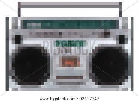 pixel ghetto blaster