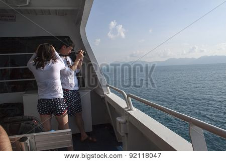 On Tourboat To Islands