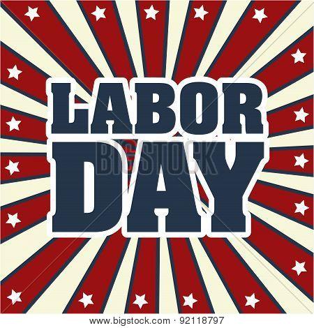 labor day over grunge background vector illustration