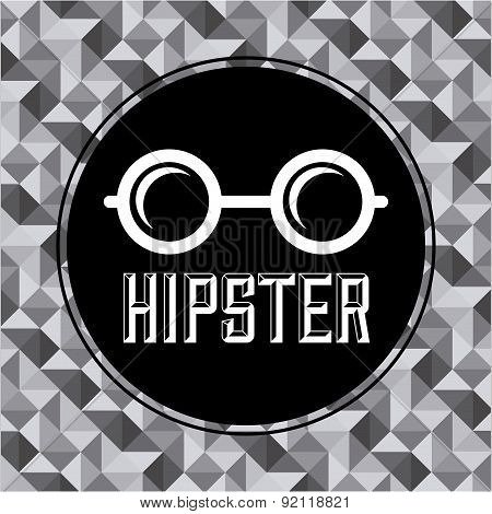 hipster design over silver background vector illustration