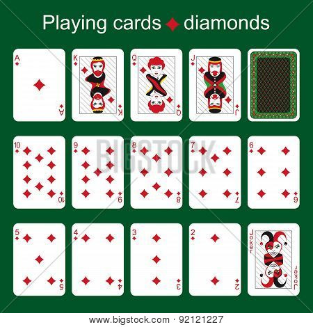 Playing Cards. Diamonds