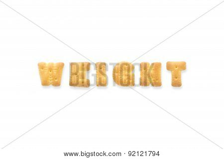The Letter Word Weight. Alphabet  Cookie Biscuits