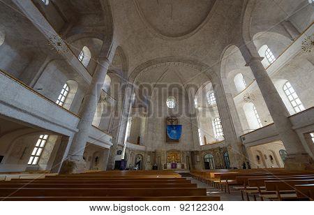 Interior Of Kreuzkirche In Dresden, Saxony, Germany.