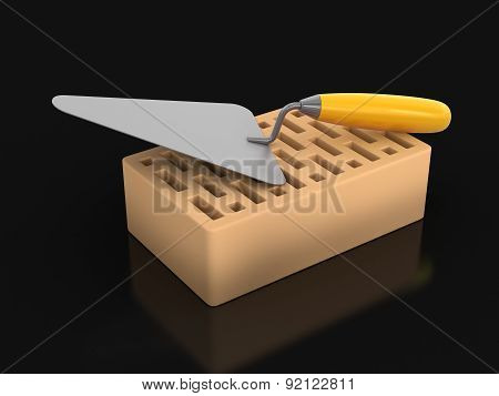 Brick and Trowel (clipping path included)
