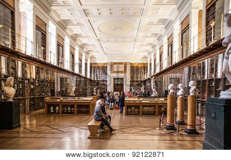 LONDON, UK - NOVEMBER 30, 2014: Louis-Francois. Sculpture of The Enlightenment Gallery British museu
