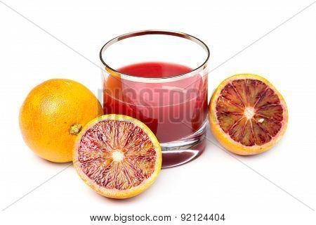 Fresh And Delicious Orange Juice Over White