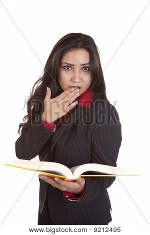 Girl Shocked By Book