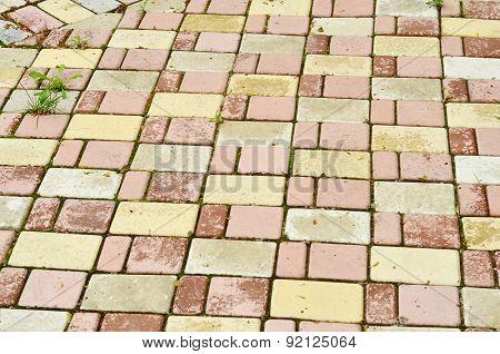brick stone street road