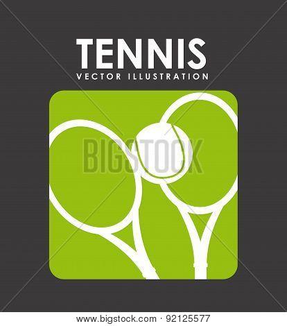 tennis design over black background vector illustration