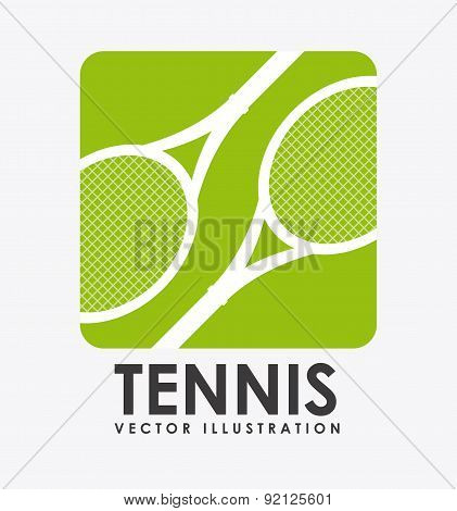 tennis design over background vector illustration