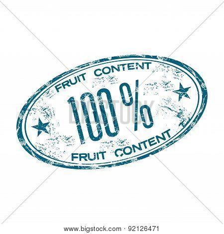 Fruit content stamp