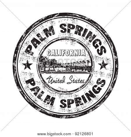 Palm Springs grunge rubber stamp