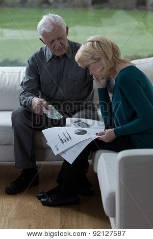 Old Marriage Talking About Bills