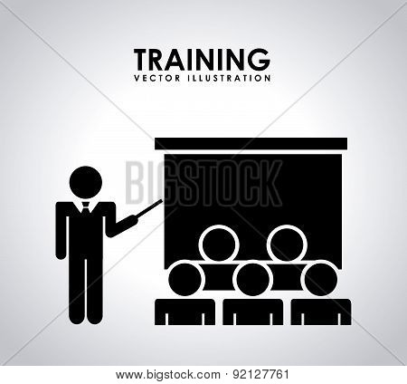 training design over gray background vector illustration