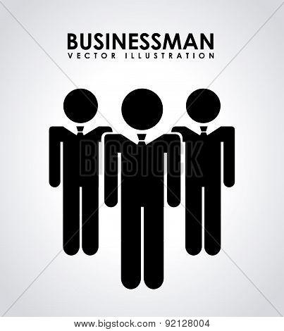 businessman design over gray background vector illustration