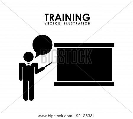 training design over white background vector illustration
