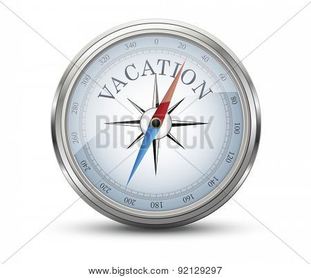 Vacation Concept Compass