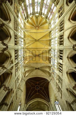 France, The Historical Cathedral Of Beauvais In  Picardie