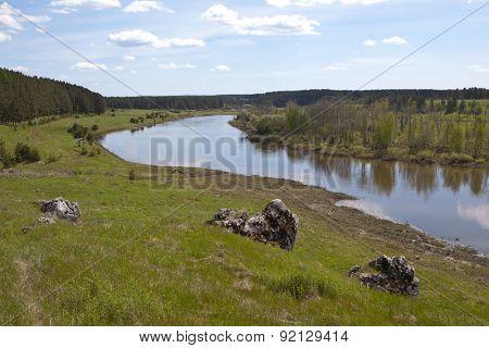 Ural landscape. Chusovaya River.