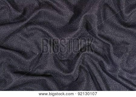 Black Wrinkled Nonwoven Fabric Background