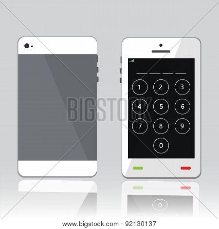password on white phone