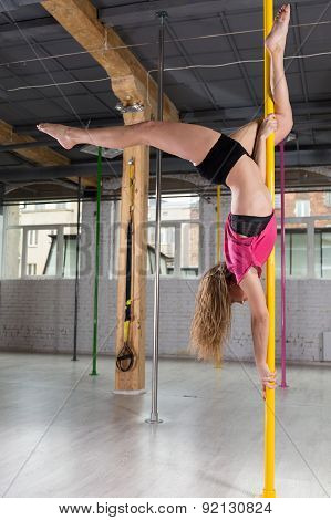 Pole Dancer Dancing On Pylon